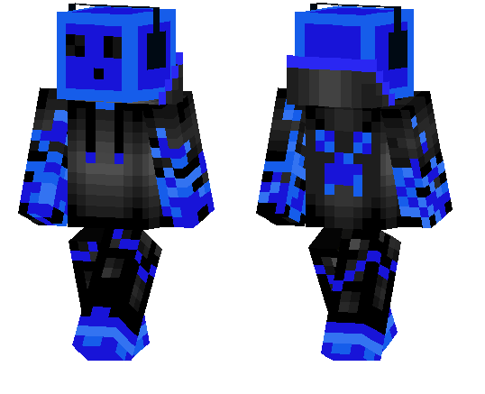 The Blue Gamer Slime - MCPE Skins   minecrafts.us
