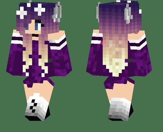 Purple wolf girl - Fantasy/MCPE Skins | minecrafts.us